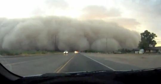 Nube caduta nella zona di Xinjiang sulla terra! (Guarda il video)