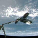 l cargo Cygnus agganciato alla Stazione Spaziale